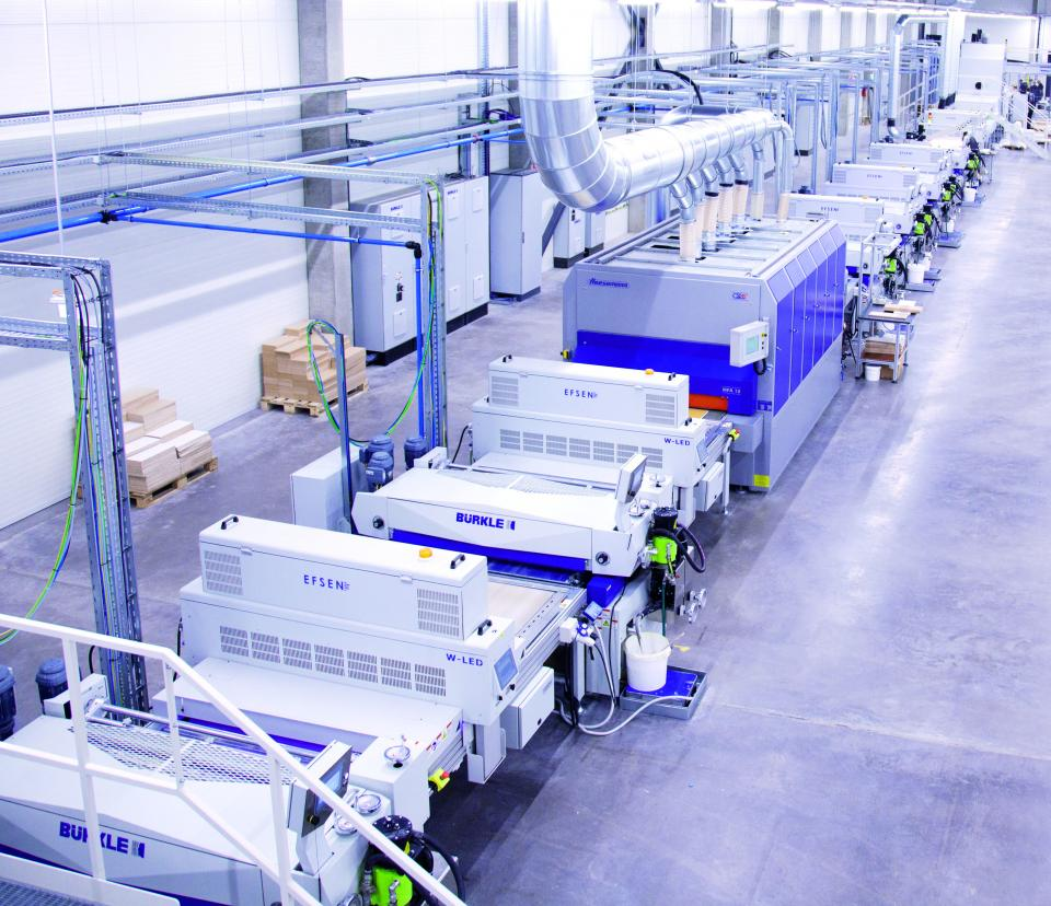Major Ikea supplier in Europe uses UV LED curing in furniture finishing