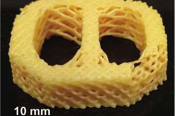 Researchers develop 3-D-printable material that mimics biological tissues